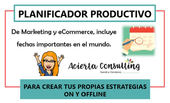 Planificador Productivo 2018 de Marketing y eCommerce by Acierta Consulting